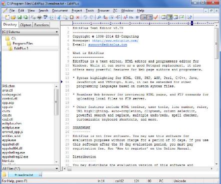 ES-Computing EditPlus 5 Download Free