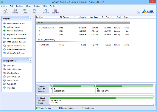 AOMEI Partition Assistant 8 Download Free