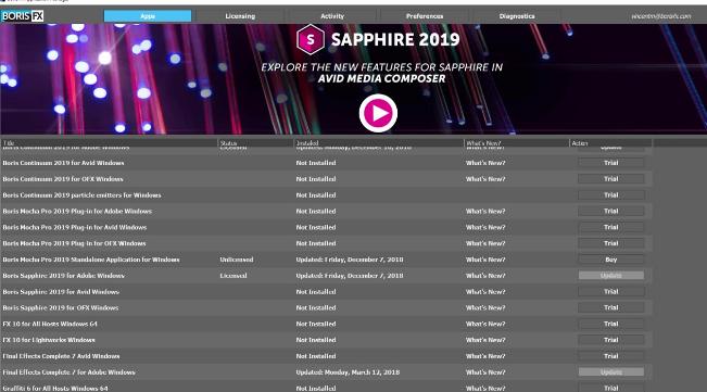 BorisFX Genarts Sapphire 2019.03 Free