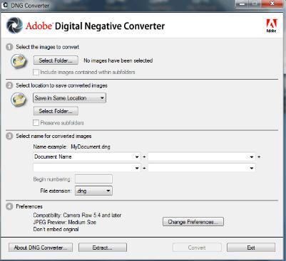 Adobe DNG Converter MAC