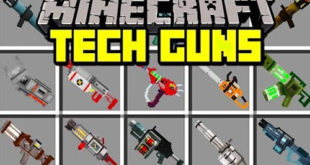 Gun Mod 1.7.10 (RPGs, Silencer, Machine Guns) Download