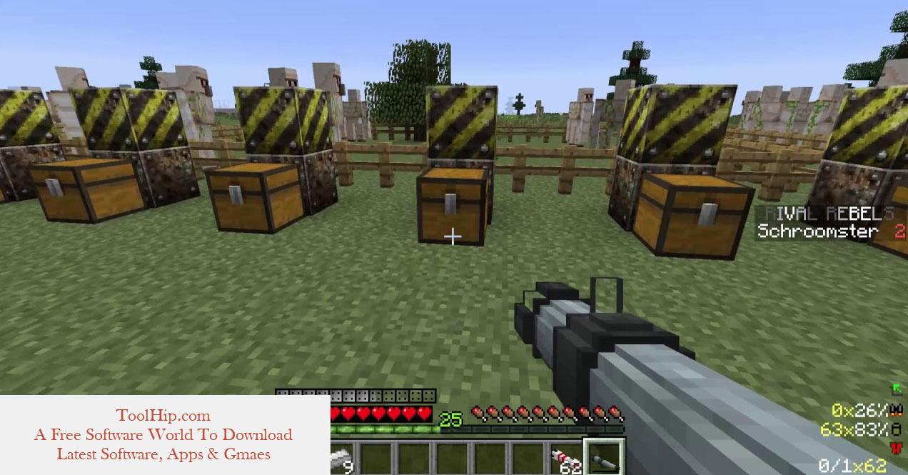 Gun Mod 1.7.10 (RPGs, Silencer, Machine Guns) Download