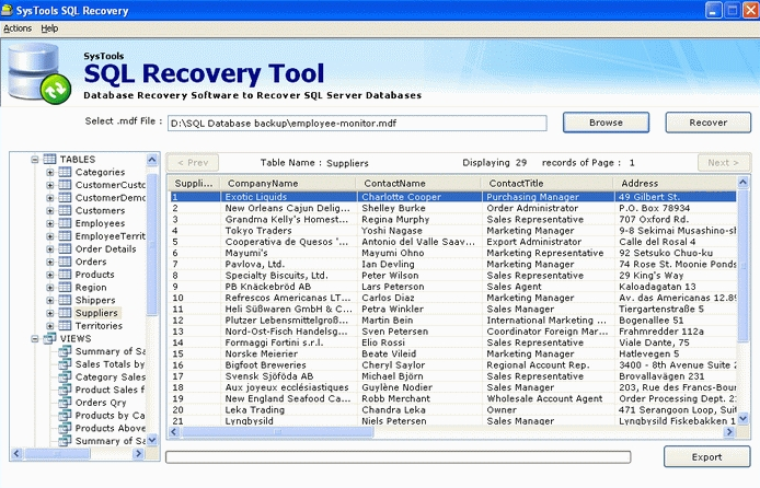 SysTools SQL Recovery (Backup) 10.0.0 Free Download