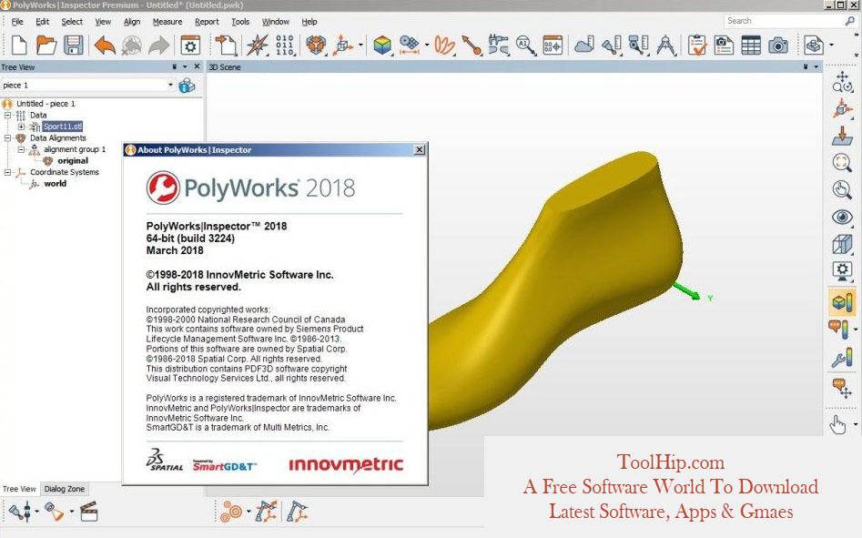 InnovMetric PolyWorks Metrology Suite 2019 Free Download