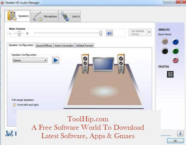 Realtek HD Audio Manager Download