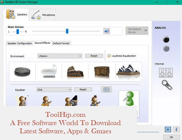 Realtek HD Audio Manager Free