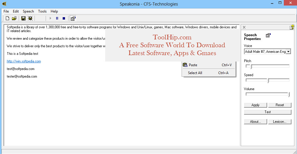 Speakonia Free Download