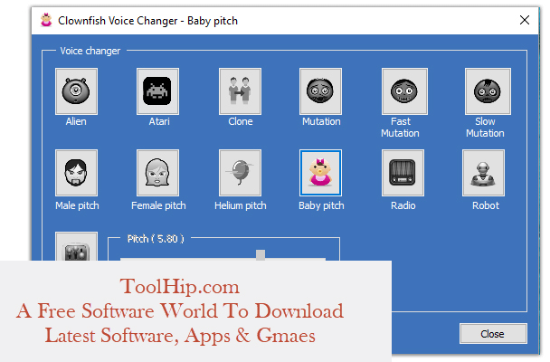 Clownfish Voice Changer Free