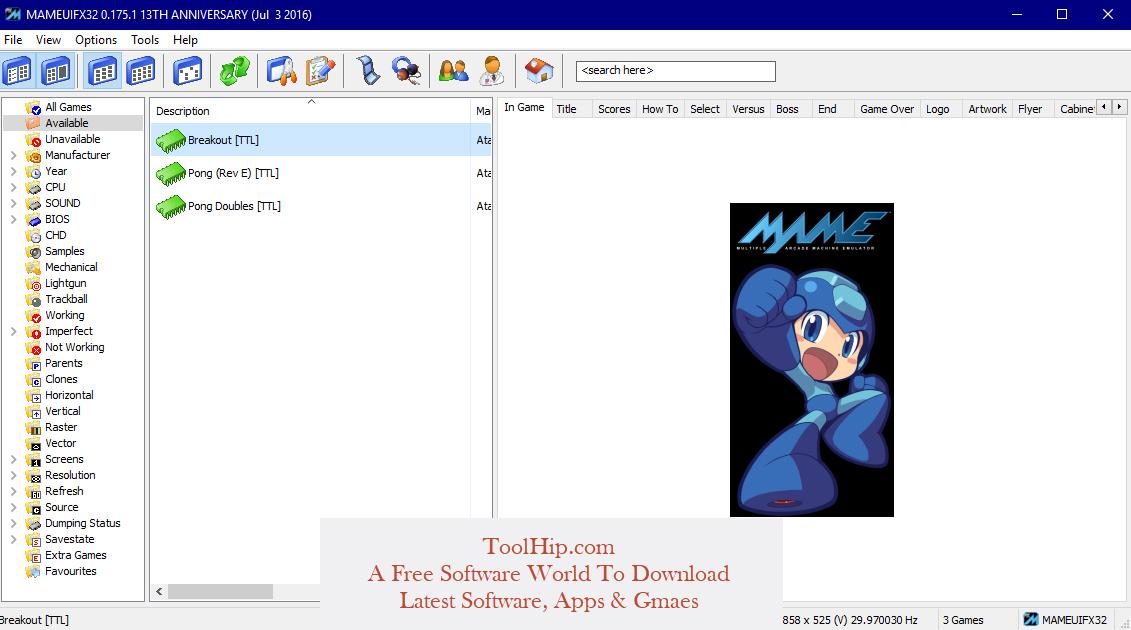 MAME Emulator Free Download