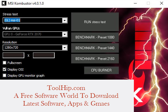 MSI Kombustor Free Download