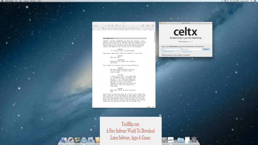 Celtx for Mac Download Free