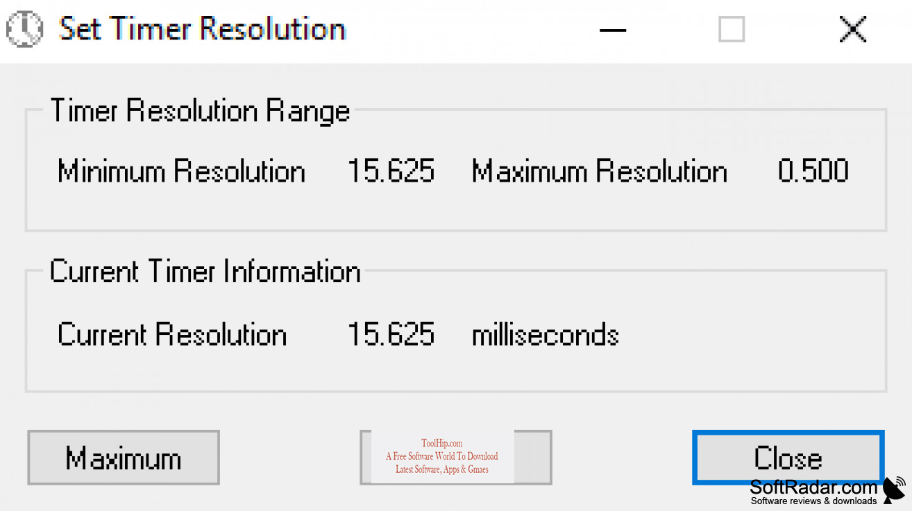 Timer Resolution Download