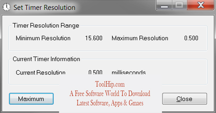 Timer Resolution Free Download