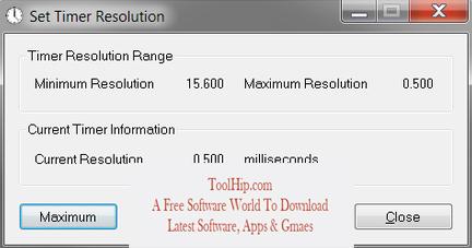 Timer Resolution Free Download