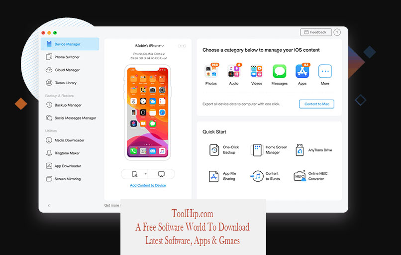AnyTrans for iOS Download For Windows