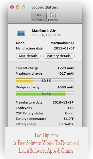 coconutBattery Download For Mac