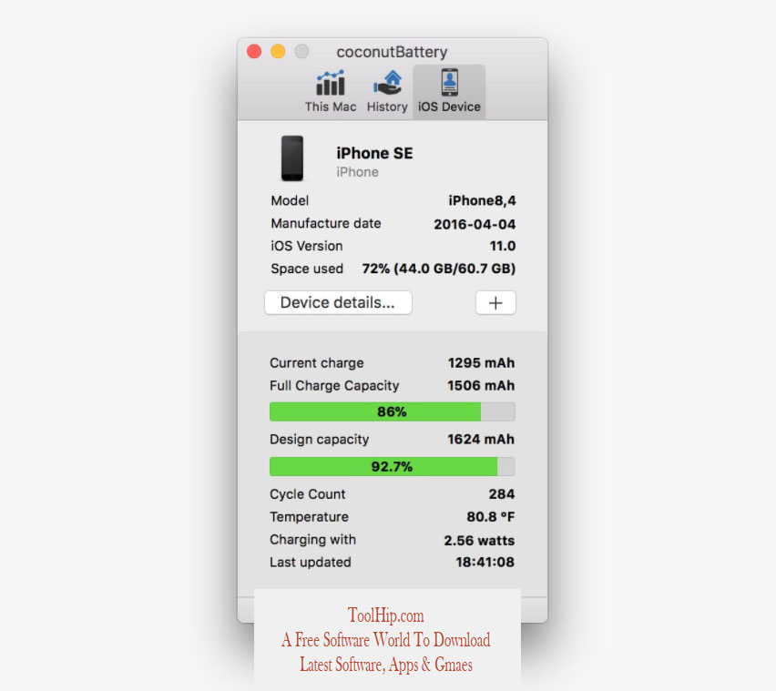 coconutBattery Download Free